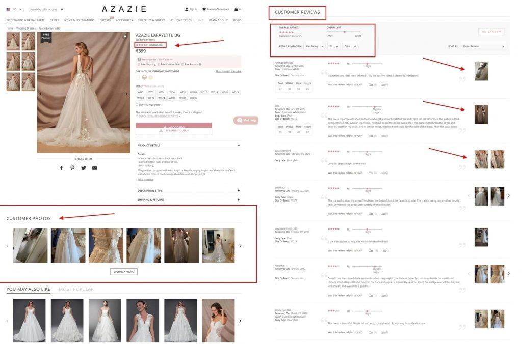 Azazie - User Generated Content