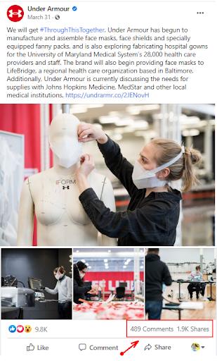 Under Armor Best Practice for Social eCommerce