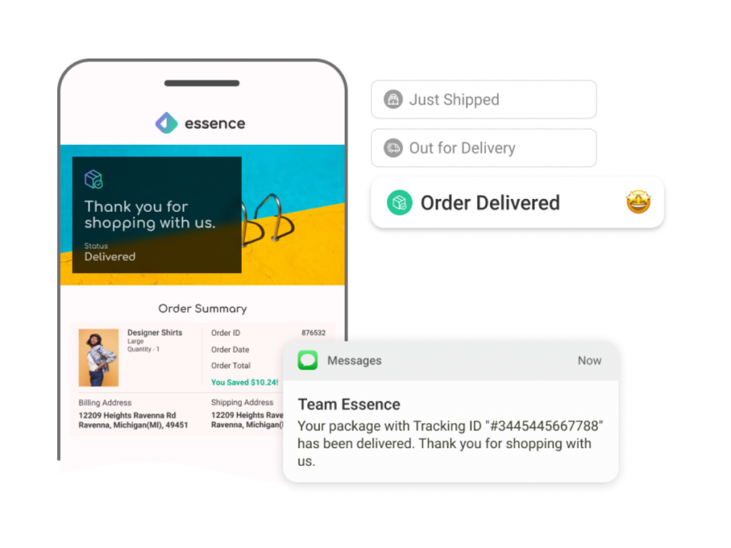 Shipping transactional mails